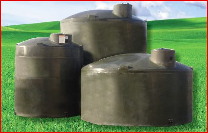Green-Water-Tanks & Vertical Water Storage Tanks On Green Rubber-Kennedy AG LP