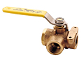 Apollo 3 way brass ball valve