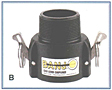 Polypropylene Cam Lever Couplings-B