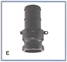 Polypropylene Cam Lever Couplings-E